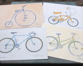 Classic Bicycle Postcards (set of 4)