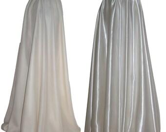 Wedding skirt Chiffon Skirt Long satin skirt Off White skirt Maxi bridal skirt Bridesmaids formal skirt XS S M