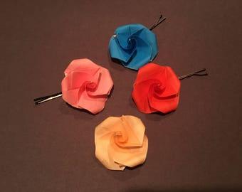 Origami Flower Bobby Pins