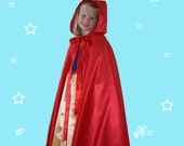 Girl's red satin cape...