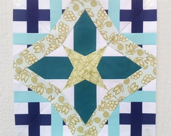 Paper Piecing - Aries #239 - Zodiac Block of the Month - 3 sizes