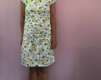 Kleid jurk dress xs s frottee vintage retro 70s 70er upcycling recycling Sommerkleid zomerjurk