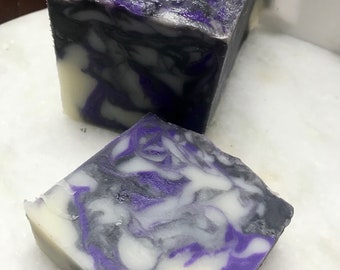 Patchouli Rain Soap|Beautiful Cold Process Soap|Natural Soap|Handmade Pretty Soap|Vegetable-Based Soap|Nut Free
