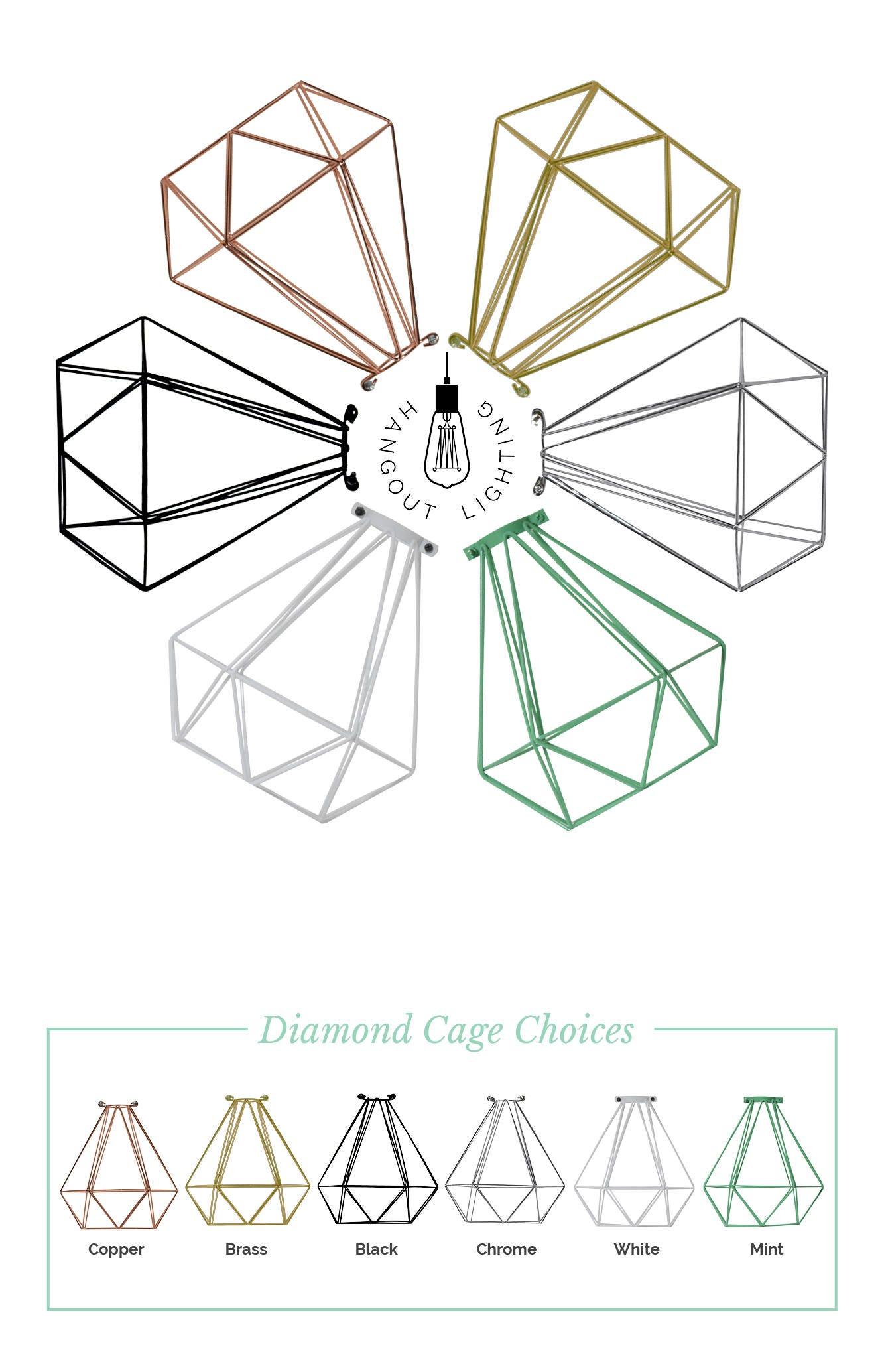 Käfig nur Hemelli Diamond Lampe Schatten hängende Lampe