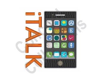 italk Smartphone - Machine Embroidery Design, iTalk, Smartphone, iPhone