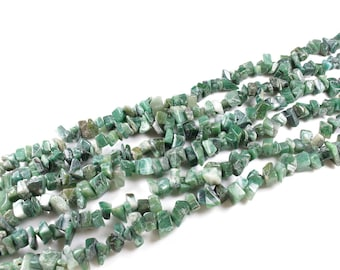 150 beads natural African jade chips approximately 4 to 10mm LBP00091