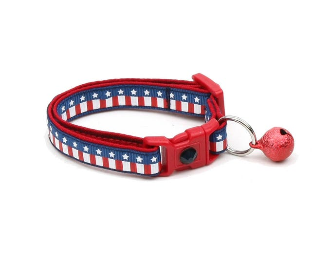 American Flag Cat Collar - Old Glory - Kitten or Large Size
