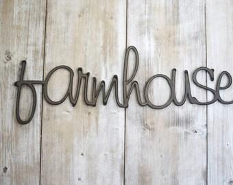 Metal Signs, Farmhouse Signs, Farmhouse, Farmhouse Wall Decor, Christmas Gift, Wedding Gift, Metal Wall Art, Rustic Home Decor, Wall Decor