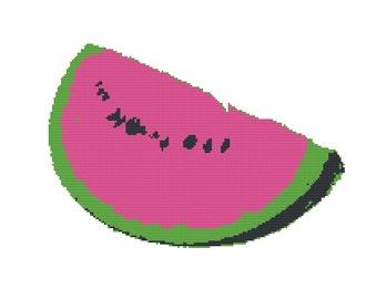 Watermelon - Counted Cross Stitch Kit, Modern cross stitch