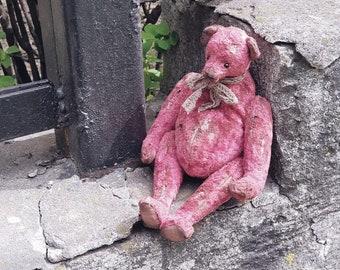Teddy bear, OOAK, Artist Teddy bear, vintage style bear,OOAK Teddy bear, Old style bear, Soft toy, Stuffed bear, Artist bear