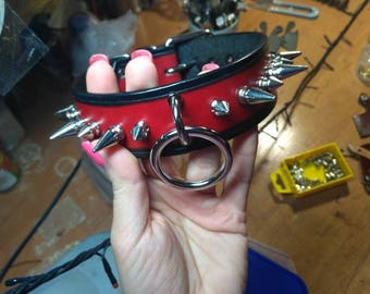 Custom made spiked leather collar