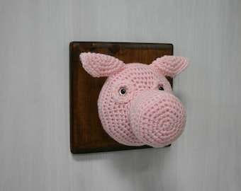 Crochet Taxidermy Pig