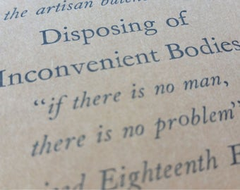 Inconvenient Bodies - Small Funny Letterpress Notebooks, Jotters, Mini Journals, Cahiers