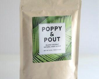 Body Scrub, Island Coconut, Free USA Shipping