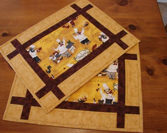 French Chef Pieced and Quilted Placemats