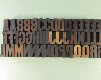 Choice Gothic Condensed Wood Type - Printing Letterpress Blocks 1 inch Letters