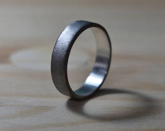 Mens Black Wedding Band. Mens Black Rings. Mens Wedding Band Black. Rings Black Men. Unisex Black Rhodium Plated Ring. Black Silver Bands