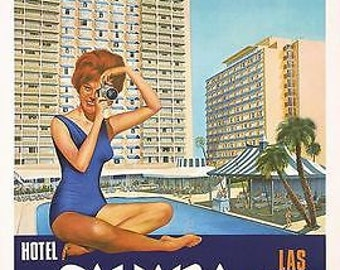 Vintage Sahara Hotel Las Vegas Poster A3 Print