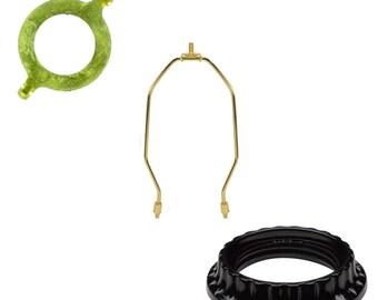 Harp With Slip Uno Adapter Harp Converter Lamp Shade Uno Euro Fitter 1 7/16