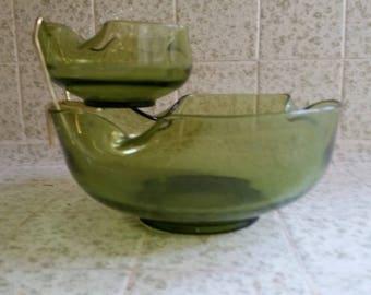 Vintage Chip and Dip Serving Bowls