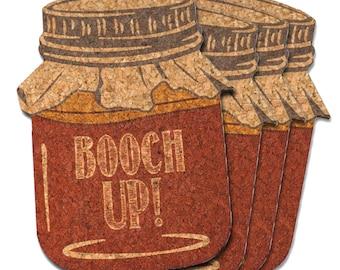 Booch Up! Kombucha Natural Cork Coasters
