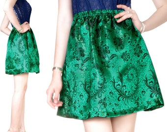The Fine (M22) embroidery Brocade skirt