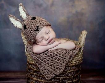 Newborn Peter Rabbit Inspired Hat