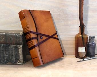 Rustikale Journal, Antik-Leder, natürliche Ziegenleder