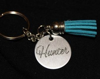 SALE!!! B1G1 CUSTOM engraved name keychain charm + tassel