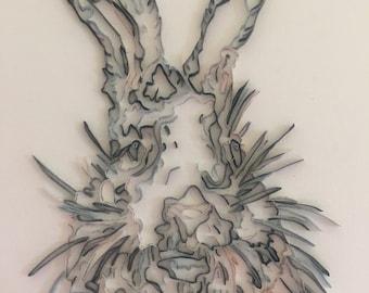 Pepper Quilling Rabbit Art