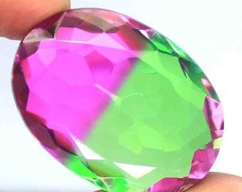 55.35 Ct Certified Oval Shape Brazilian Multi-Color Ametrine Gemstone For Pendant AO2177