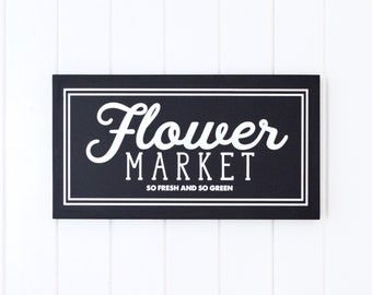 FLOWER MARKET Painted wood sign (Painted Frame) - S,M,L Sizes available  | Wall decor (Rustic Chic, Modern Farmhouse, Fixer Upper)