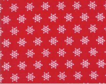 Sugar Plum Christmas Candy Red Snowflakes 2917 11 - Moda Fabrics 100% Cotton Quilting Fabric Bunny Hill Designs