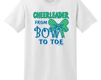 Cheerleader from Bow to Toe Tee Shirt - Women's