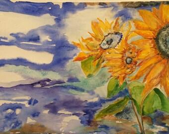 Sunflower Painting (Unframed)