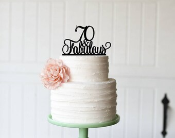 70th Birthday Cake Topper 70 Sassy Birthday Cake Topper