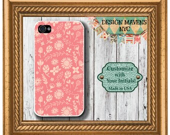 Garden Floral iPhone Case, Pink Floral iPhone Case, Gift for Her iPhone Case, iPhone 5, 5s, 5c, iPhone 6, 6s, 6 Plus, SE, iPhone 7, 7 Plus