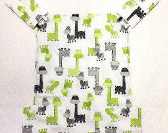 Jazz and Go baby carrier cover and strap pads for Ergo for baby wearing in lime black white giraffe cotton fabric