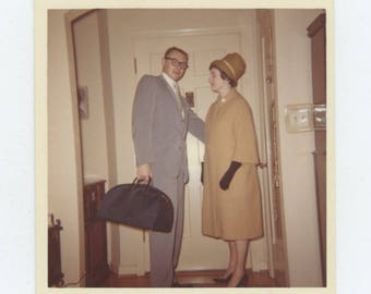 Vintage Snapshot Photo: Leaving, c1960s (712632)
