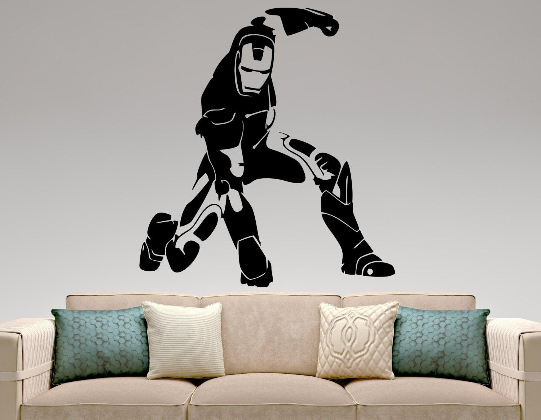 Iron Man Wall Decal Movie Superhero Stickers Home Interior