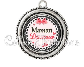 Cabochon 25mm smooth 005ROS01 MOM pendant