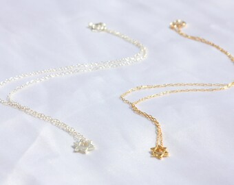Necklace Gold Star Of David Jewish Star Necklace, Dainty Gold Necklace, Magen David Necklace, Tiny Star Of David Necklace, Delicate Jewelry