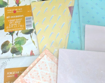 All Occasion Wrapping Paper, New in Plastic! 8.33 Square Feet, Gift Wrap, Vintage Paper, Wedding, Shower, Birthday, Holiday, Baby Shower