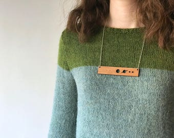 Solar system necklace without Pluto, laser cut necklace, geek chic necklace statement, gifts for nerds, science necklace, graduation gift
