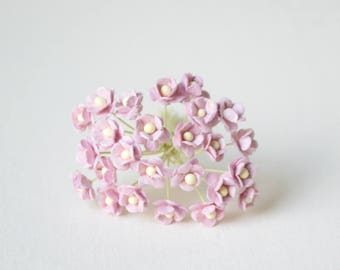 10  mm /  20  Dusty Mulberry Paper  Flowers