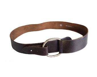 Vintage Real Leather belt brown