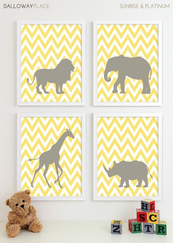 Safari Nursery Art Zoo Nursery Print Animal Nursery Wall Art