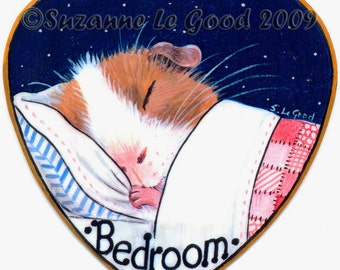 GUINEA PIG bedroom Door SIGN by Suzanne le Good