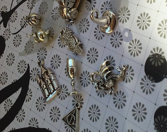 Wizard world charms charms silver charms movie charms 10 charms