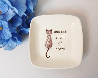 Crazy Cat Lady | Ceramic Dish | Cat Lady | Meow Handmade from my Charleston, SC Studio